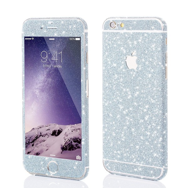 VAPIAO Glitzerfolie Skin Protector Schutzfolie für Apple iPhone 6 Plus, 6s Plus in Kristall Blau